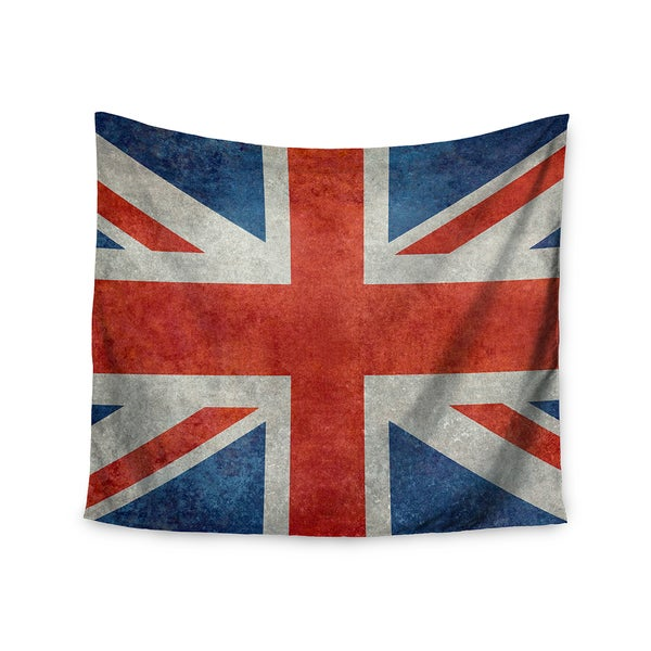 KESS InHouse Bruce Stanfield 'UK Union Jack Flag' Red Blue 51x60-inch Tapestry