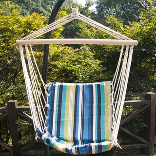 Prime Garden Beaches Stripe Cushioned Single Hammock Swing