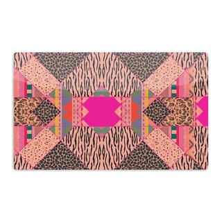 KESS InHouse Vasare Nar 'New Wave Zebra' Pattern Pink Artistic Aluminum Magnet