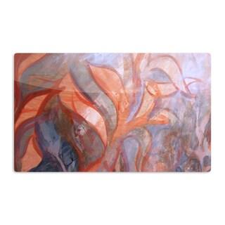 KESS InHouse Theresa Giolzetti 'Seaweed' Orange Blue Artistic Aluminum Magnet
