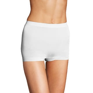 Maidenform Women's Everyday Value White Nylon/Spandex Boyshorts (Set of 2)