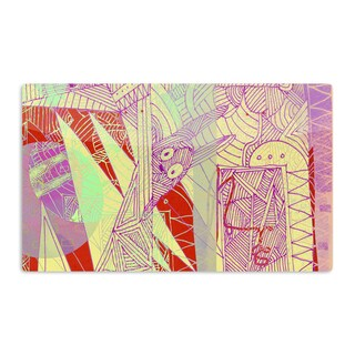 KESS InHouse Marianna Tankelevich 'Bunny Land' Pink Rabbits Artistic Aluminum Magnet