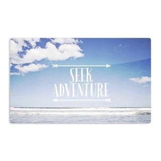 KESS InHouse Susannah Tucker 'Seek Adventure' Beach Artistic Aluminum Magnet
