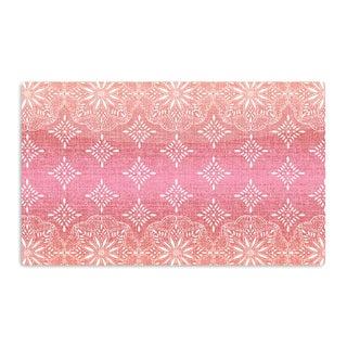 KESS InHouse Suzie Tremel 'Medallion Red Ombre' Pink Artistic Aluminum Magnet