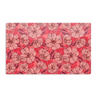 KESS InHouse Suzie Tremel 'Flutter Floral' Red Petals Artistic Aluminum Magnet