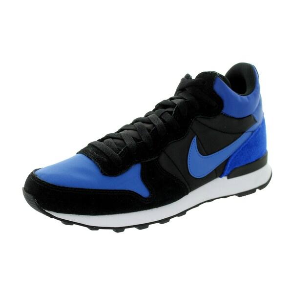 Nike Men's Internationalist Mid Royal/Royal/Black/White Suede Running Shoe