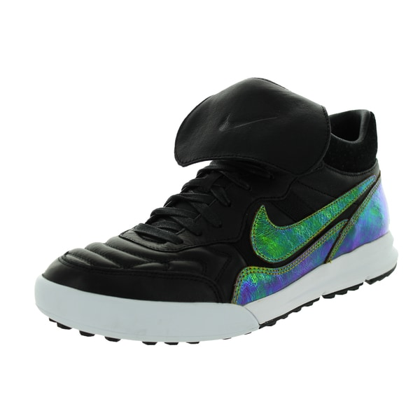 Nike Men's Nsw Tiemp '94 Lunar Mid Tp Qs Black/Bronze/Dark Citron/White Leather Indoor Soccer Shoe