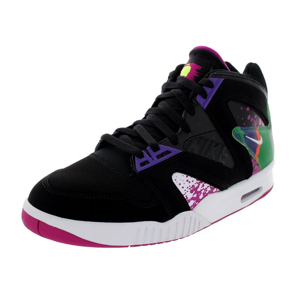 Nike Men's Air Tech Challenge Hybrid Qs Black/White/Pink/Varsity Purple Tennis Shoe