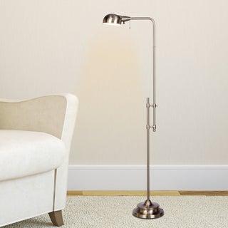 45.25 - 62.25-inch Adjustable Metal Floor Lamp In Brushed Steel