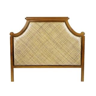 Twill Natural Brown Wood Queen Headboard