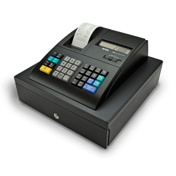 Royal 210DX Cash Register (24 dept., 1500 PLU, thermal, fits US/Canada bills) - Refurbished