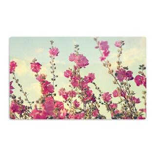 KESS InHouse Sylvia Cook 'Pink Lavatera' Flowers Sky Artistic Aluminum Magnet