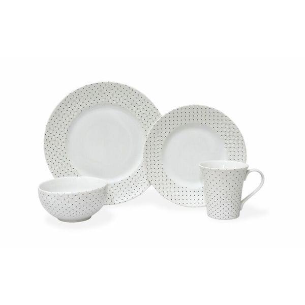 Calico White Porcelain 16-piece Dinnerware Set