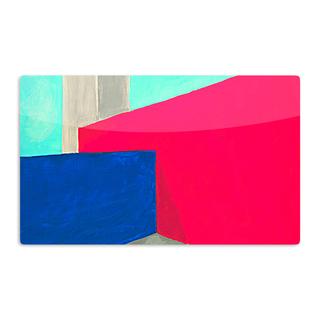 KESS InHouse Oriana Cordero 'Corner' Multicolor Geometry Artistic Aluminum Magnet