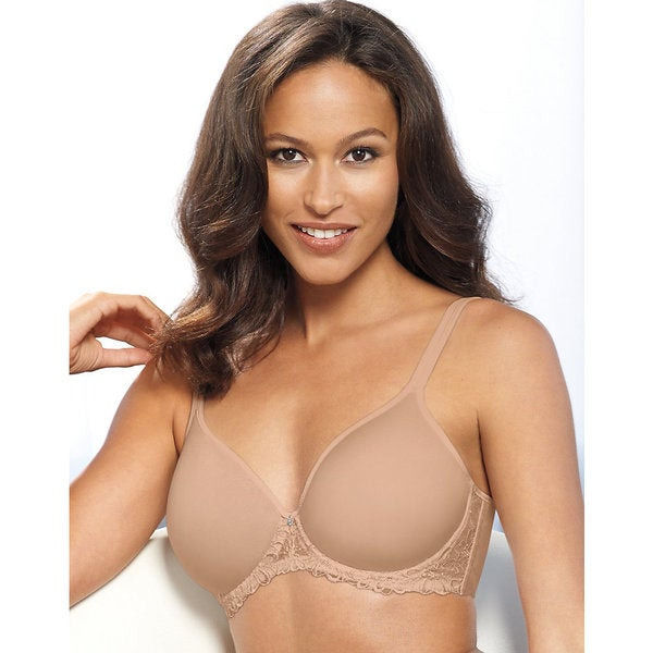 Bali Women's One Smooth U Nude Ultra-light Embroidered Frame Underwire Bra