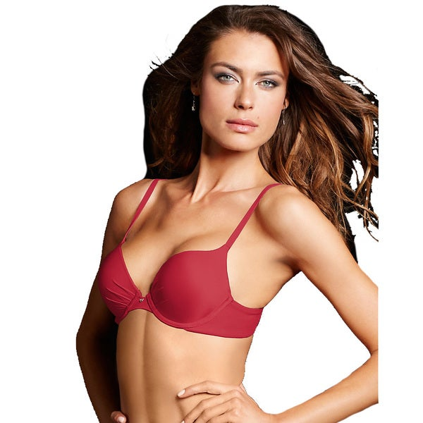 Maidenform Women's Comfort Devotion Camera Red-y Tailored Plunge Push-up Bra