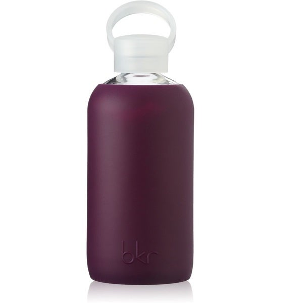 bkr Glass Water Bottle with Soft Purple Silicone Sleeve