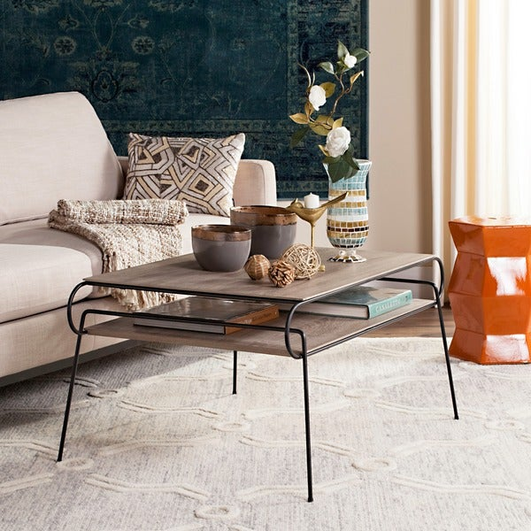 Safavieh Marcello Light Grey / Black Coffee Table