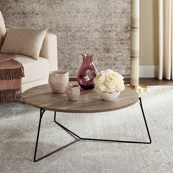 Safavieh Mae Light Grey / Black Coffee Table