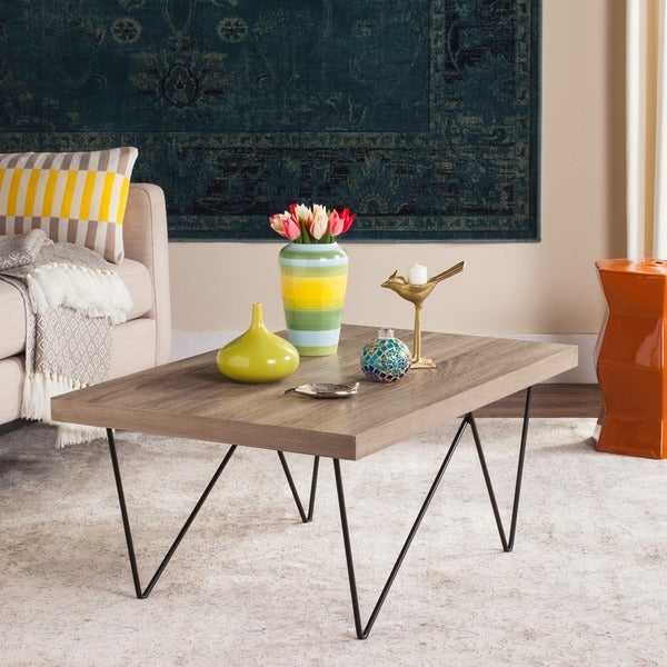 Safavieh Amos Light Grey / Black Coffee Table