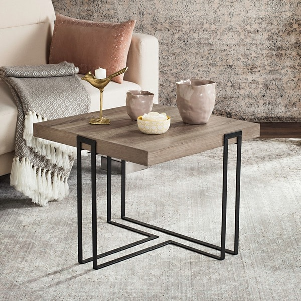 Safavieh Pitt Light Grey / Black End Table