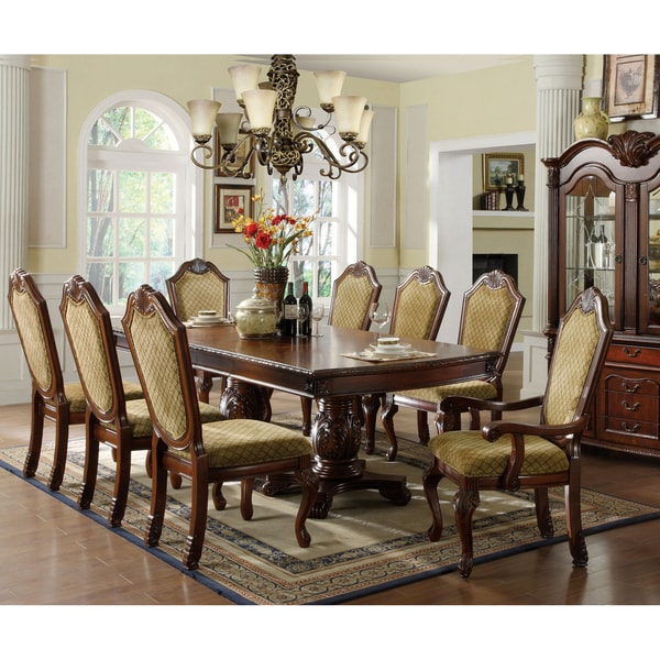 Furniture of America Cellon Formal Dark Cherry Expandable Dining Table 19506018