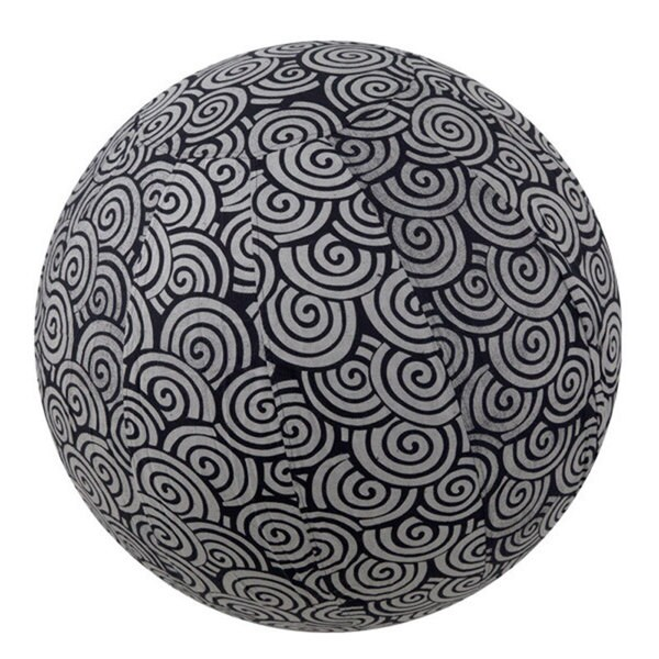 Handmade Yoga Ball Cover Black Swirl Design (Thailand)