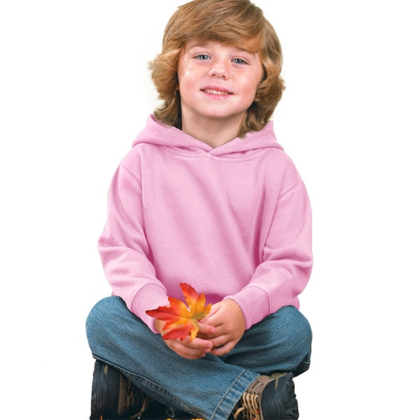 Boys' Pink Fleece Hooded Pullover