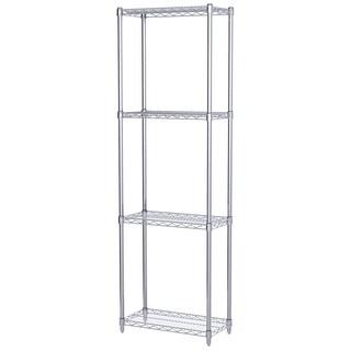 Akro-Mils Silver Steel 12-inch x 24-inch x 74-inch 4-shelf Wire Shelving Unit
