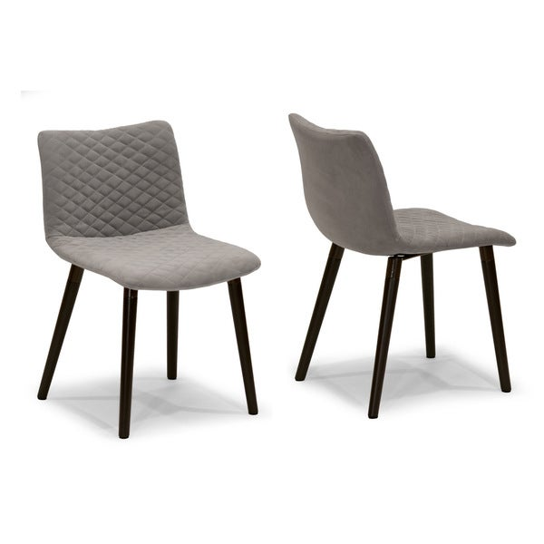 addison grey fabric dining chair with beech legs set of 2