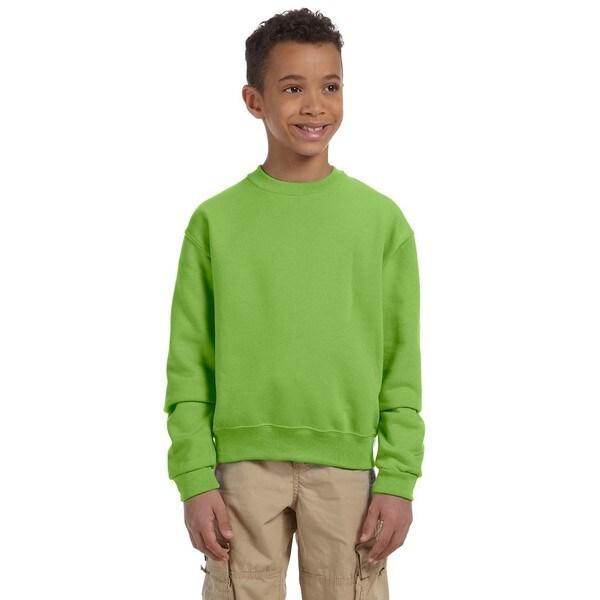 Jerzees Boys' Kiwi Nublend Crewneck Sweatshirt