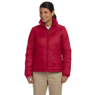 Women's Essential Red Nylon Polyfill Jacket