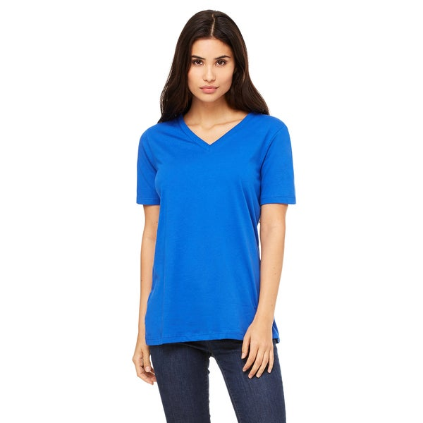 Missy's Girls' True Royal Cotton Relaxed Jersey Short-sleeved V-neck T-shirt