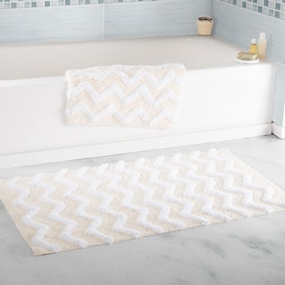 Windsor Home 100-percent Cotton 2-piece Chevron Bathroom Mat Set