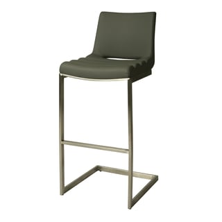 Emily Faux Leather and Stainless Steel Stool