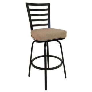El Pinacate Rust Aluminum 30-inch Outdoor Bar Stool With Fabric Cushion
