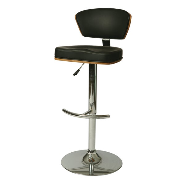 Ultimate Walnut/Chrome Wood/Steel Swivel Stool