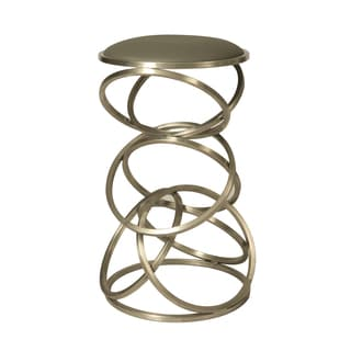 Roxanne Stainless Steel/Faux Leather Stool