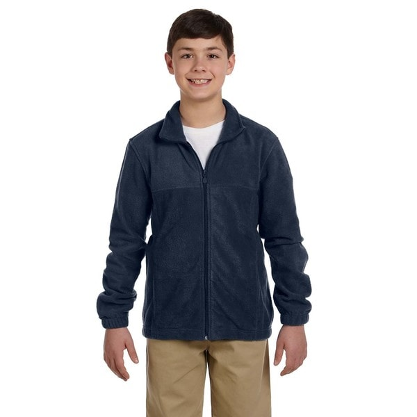 Youth Navy Fleece Full-zip Jacket