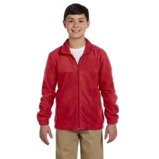 Youth Red Fleece Full-zip Jacket