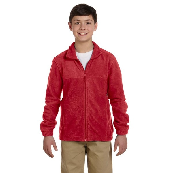 Youth Red Fleece Full-zip Jacket