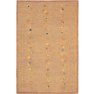 Abbyson Living Hand-knotted 'Napa' Gold/ Blue Wool Rug (8' x 10')