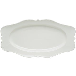Pinpoint White 16.5-inch Oval Platter