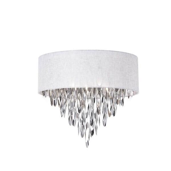 Dainolite 4-light Flush Mount Fixture with White Shade 19507086