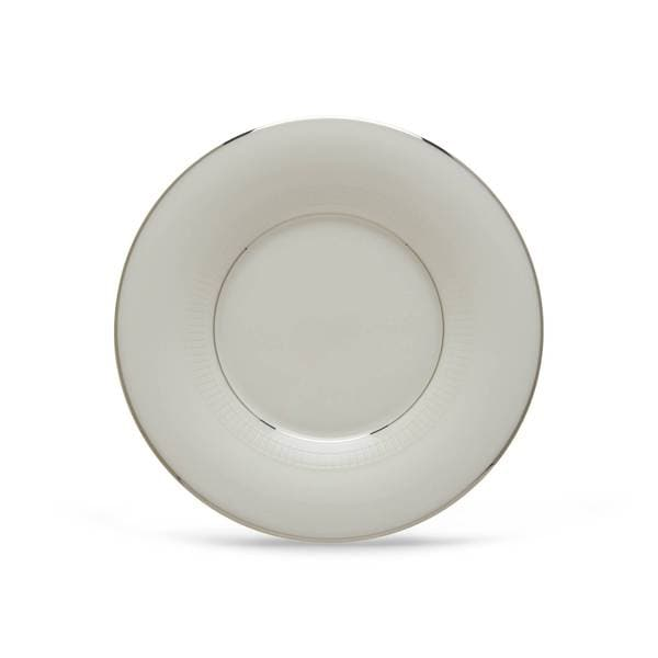 Lenox Tribeca White/Silver China Can Saucer 19507429
