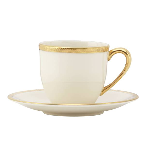 Lenox Tuxedo 24k Gold China Demitasse Cup and Saucer 19507431