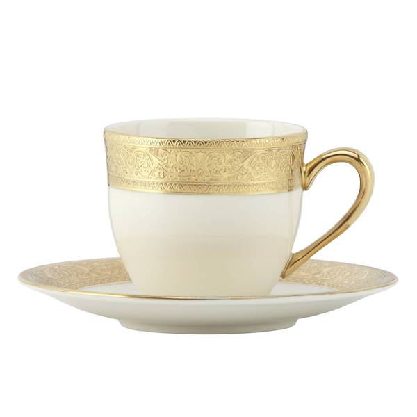 Lenox Westchester Gold China Demi Cup/Saucer 19507466