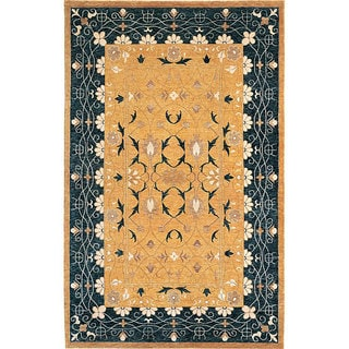 Abbyson Living Hand-knotted 'Harvest Moon' Gold Wool Rug (8' x 10')