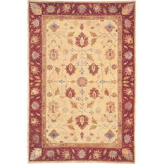 Abbyson Living Hand-knotted 'Desert Breeze' Gold Wool Rug (10' x 14')