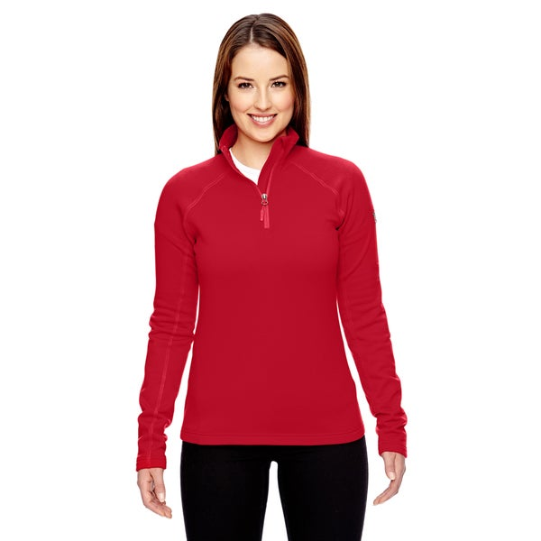 Women's Red Fleece Stretch Half-Zip Team Jacket